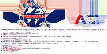 Envios a Cuba - Sardelli Logistics su sito della Dogana Centrale Cubana